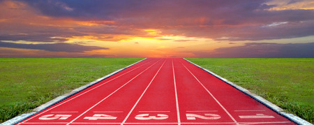 Athlete Track or Running Track Banco de Imagens - 120740887