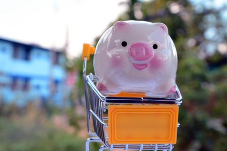 piggy save money Banco de Imagens - 120741076