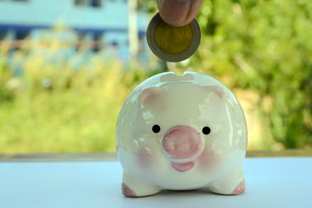 piggy save money Banco de Imagens - 120741078