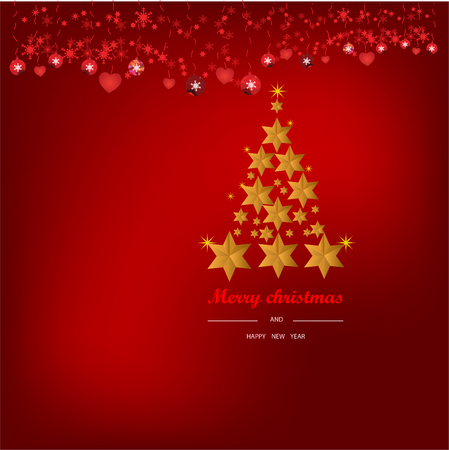 Christmas Background with Stars Christmas banner. Background Xmas design happy new year Ilustração