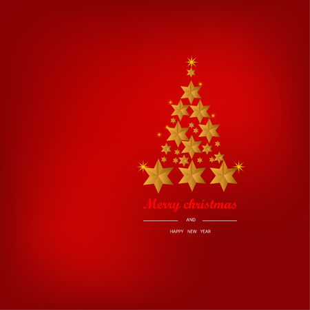 Christmas Background with Stars Christmas banner. Background Xmas design happy new year Banco de Imagens - 120741106