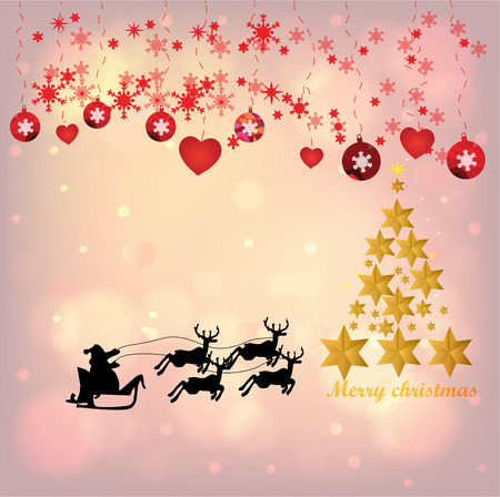 Christmas Background with Stars Christmas banner. Background Xmas design happy new year Banco de Imagens - 120741107