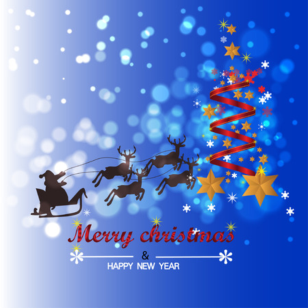 Christmas Background with Stars Christmas banner. Background Xmas design happy new year Banco de Imagens - 120741108