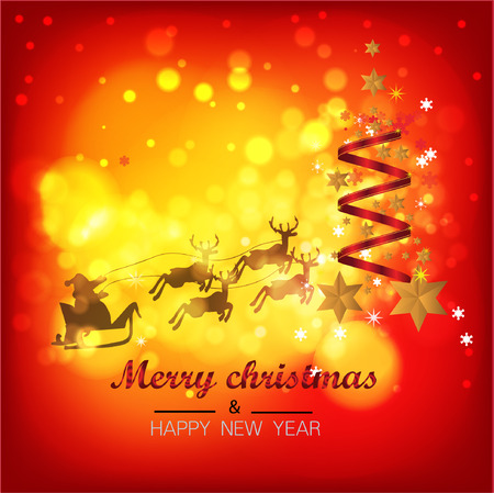 Christmas Background with Stars Christmas banner. Background Xmas design happy new year Banco de Imagens - 120741113