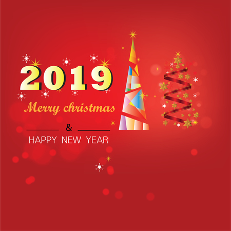 Christmas Background with Stars Christmas banner. Background Xmas design happy new year Banco de Imagens - 120741119