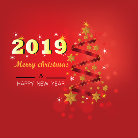 Christmas Background with Stars Christmas banner. Background Xmas design happy new year Banco de Imagens - 120741120
