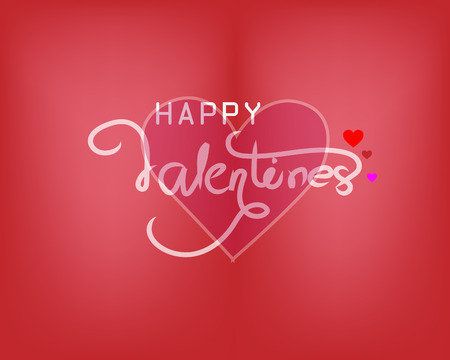 card Valentine's day heart on abstract background Banco de Imagens - 120741150