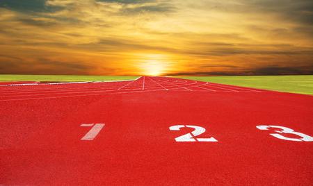 Athlete Track or Running Track Banco de Imagens - 120741251