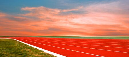 track and running, Running track for the athletes background, Athlete Track or Running Track Banco de Imagens