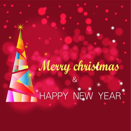 Shiny bokeh Happy New YEAR  greeting card