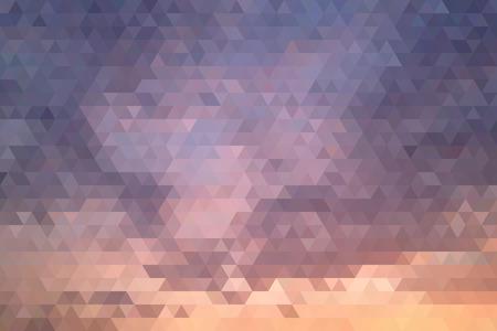 evening sky: Abstract Evening Sky Geometric Triangular Low Poly. Vector Illustration Illustration
