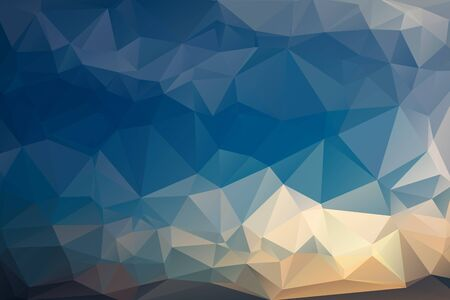 evening sky: Abstract Polygonal From Evening Sky Before Sunset Background. Vector Illustration