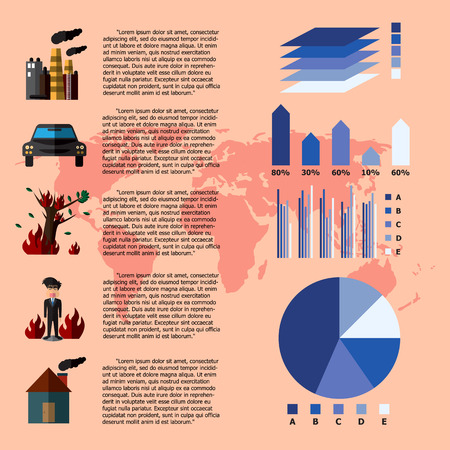 oil change: Global Warming Infographics. Vector Illustration Illustration