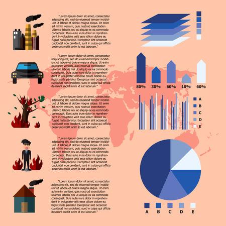 change concept: Global Warming Infographics. Vector Illustration Illustration