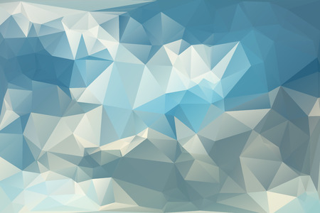 cloud background: Abstract Polygonal From Beautiful Sun In The Shadow Of A Cloud Background. Vector Illustration Illustration
