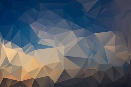 outstretched: Abstract Polygonal From Blue Sky And Cloud Shaped Like a Bird With Outstretched Wings Background. Vector Illustration