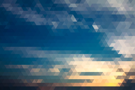 evening sky: Abstract Evening Sky Before Sunset Geometric Triangular Low Poly. Vector Illustration Illustration