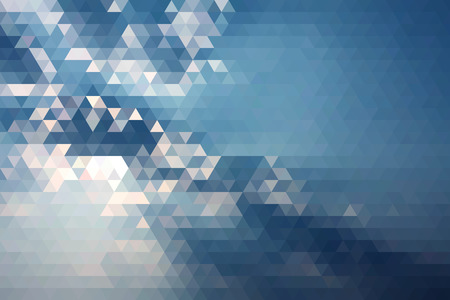 wallpaper  eps 10: Abstract Ray Of Sun In Blue Cloud Geometric Triangular Low Poly. Vector Illustration