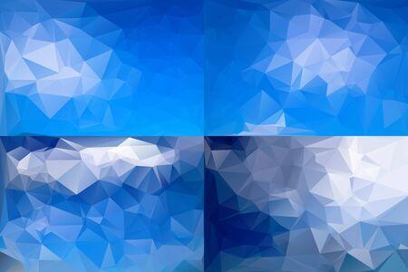 Abstract Polygonal Background Set. Vector Illustration  イラスト・ベクター素材