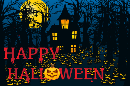 trick or treating: Halloween Background. Vector illustration