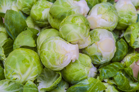 brussels sprouts: Close-up of Brussels sprouts.