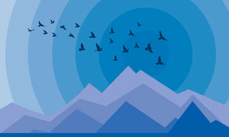 Flying birds silhouettes on white background. Vector illustration. isolated bird flying. tattoo and wallpaper background design. sky and cloud with fly bird.