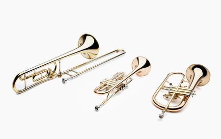 coro: Instrumentos De Viento Foto de archivo
