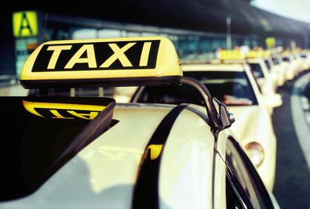 タクシー 写真素材