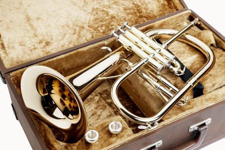 instruments de musique: trompette Banque d'images