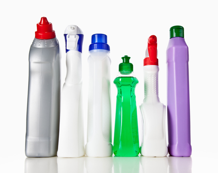 cleaning products: Cleaning supplies Stock Photo