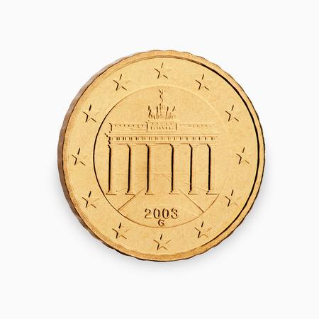 10 ? Münze Cent isoliert auf weißem Hintergrund