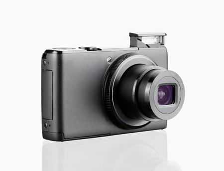 digital camera isolated on white background Reklamní fotografie