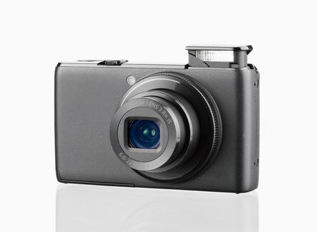 digital camera isolated on white background Stock Photo