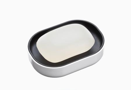 ein Stück Seife isoliert auf weißem Hintergrund Lizenzfreie Bilder