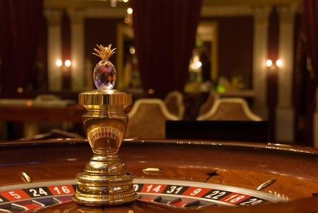 pokers: roulette in the casino interior