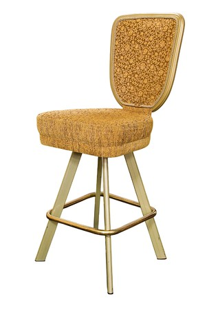 pokers: gold casino chair on white backdround