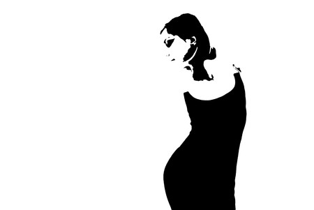 part of silhouette dancing woman photo