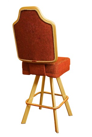 pokers: red casino chair on white background Stock Photo