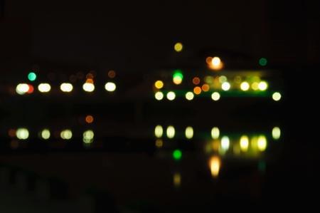 dark city: night lights with blur in dark city