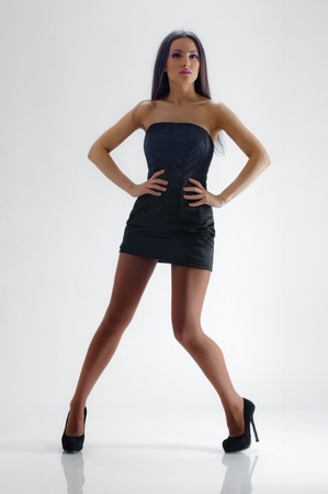 Sexy girl with short dress