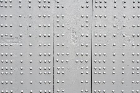 rivets: rivets on grey bridge, pattern background abstract Stock Photo