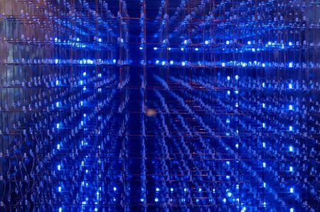 leds: LED background with dozens transparent blue LEDs