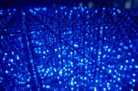 leds: LED con docenas de fondo LED azul transparente