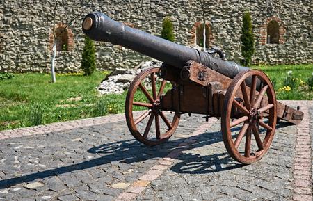 decorative cannon in the historic city of Dubno. Ukraine Dubno Carpathian