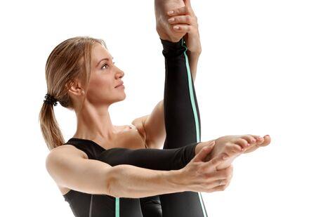 ardha: Woman in yoga pose