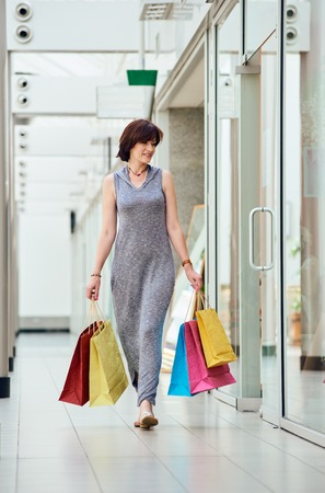 shopper with bags photo