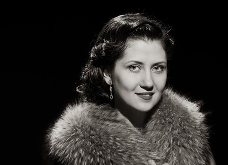 blackwhite: smiling beauty and glamorous woman