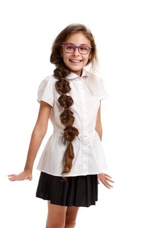 Cheerful beautiful schoolgirl