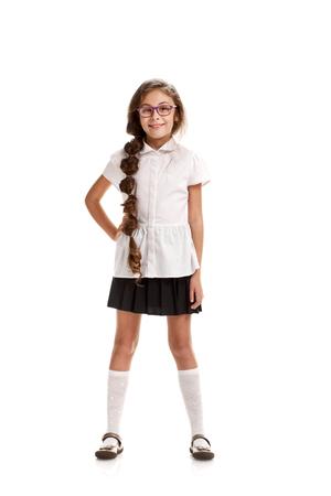 Fille dans l'uniforme scolaire Banque d'images - 81123391