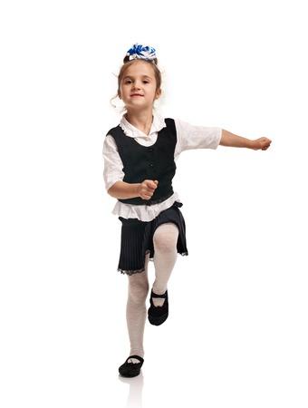 かわいい女の子の行進 写真素材